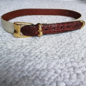 Cale Designer Genuine Crocodile Twill Women's belt